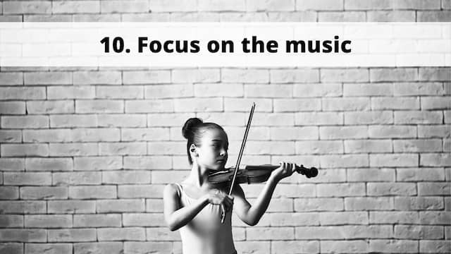 focus on the music